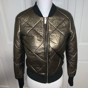 John + Jenn Quilted Faux-Leather Jacket xs